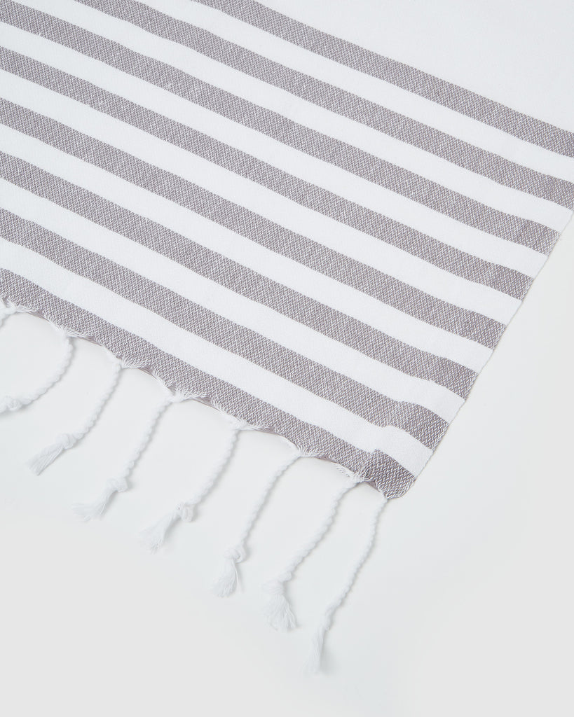 Miz Casa & Co Capri Turkish Towel Grey