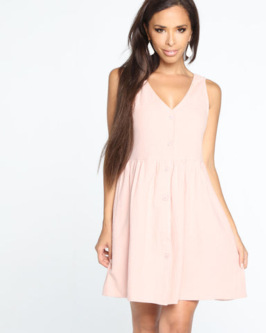 Miz Casa and Co Varro Dress Blush (SIZE 12 ONLY)