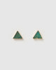 Miz Casa & Co Dusky Stud Earrings Chrysoprase Jade