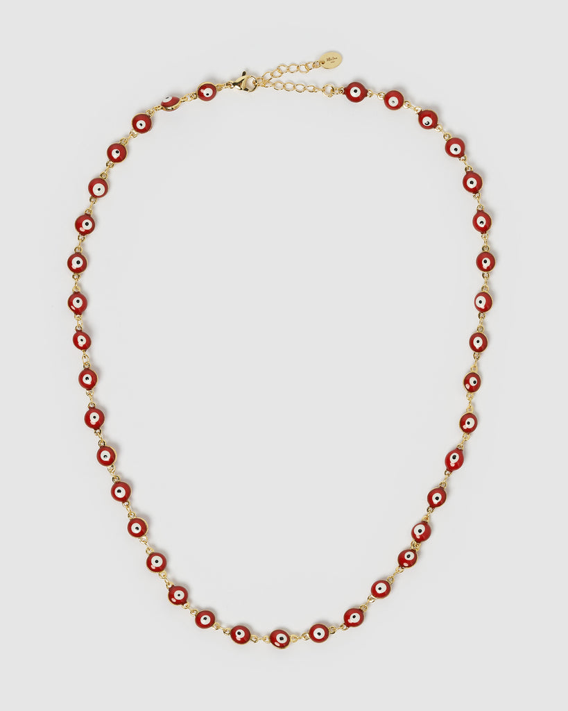 Miz Casa & Co Ela Eye Necklace Gold