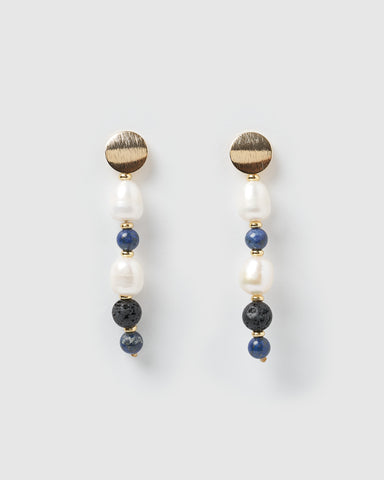 Miz Casa & Co Abyss Earrings Gold Turquoise