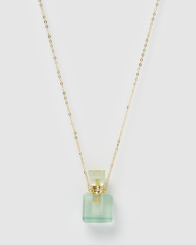 Miz Casa & Co Enchant Necklace Perfume Bottle Jade