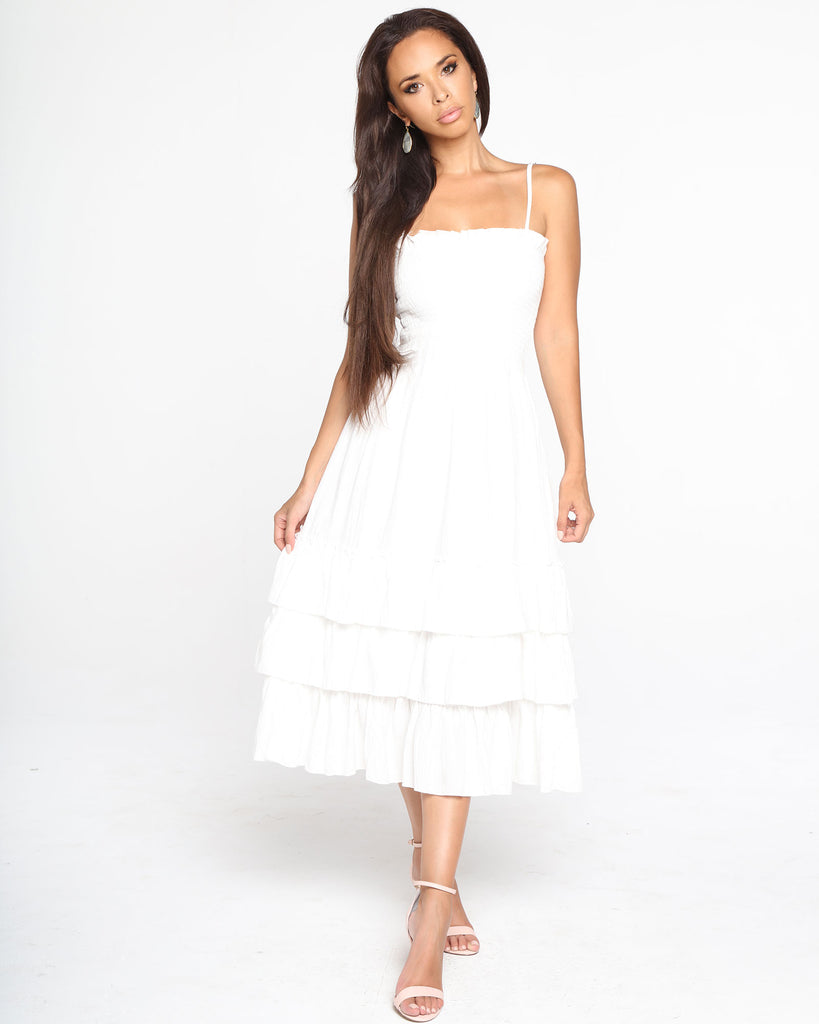 Miz Casa and Co Fairylight Dress White