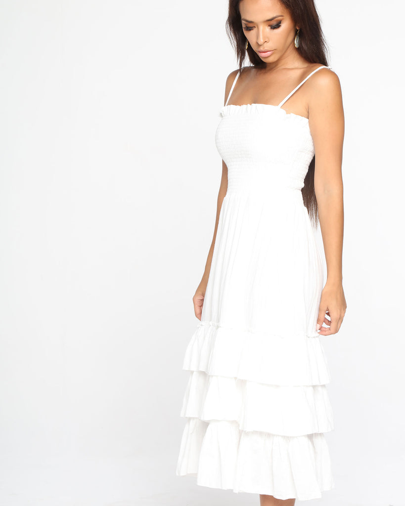 Miz Casa and Co Fairylight Dress White (SIZES 8 & 10 ONLY)