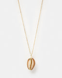 Miz Casa & Co French Polynesia Shell Necklace Gold