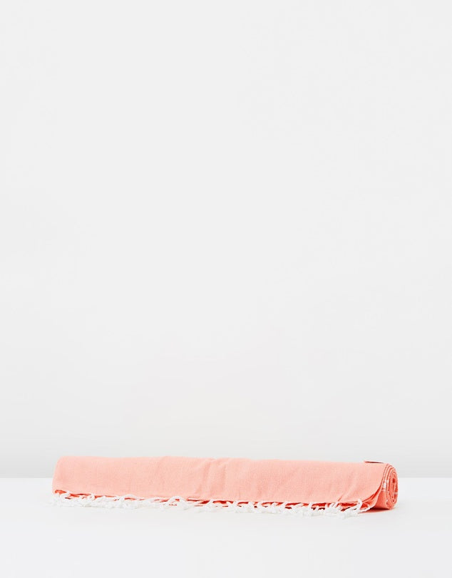 Miz Casa & Co French Riviera Turkish Towel Peach