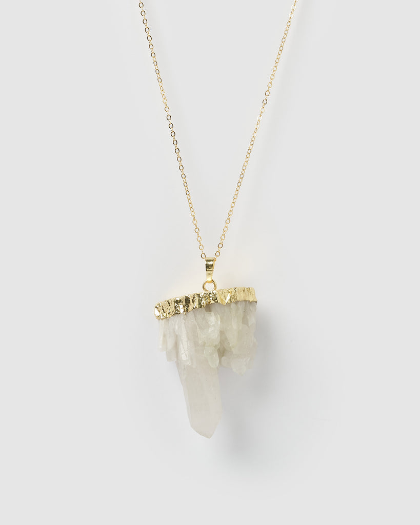 Miz Casa & Co Glacier Necklace Clear Quartz