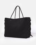 Miz Casa & Co Harper Neoprene Tote Bag Black