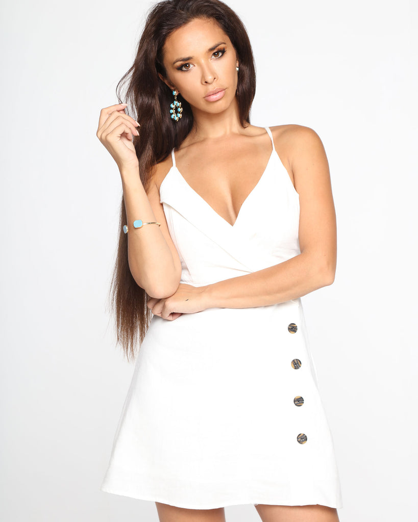 Miz Casa and Co Hazel Dress White (SIZES 12 & 14 ONLY)