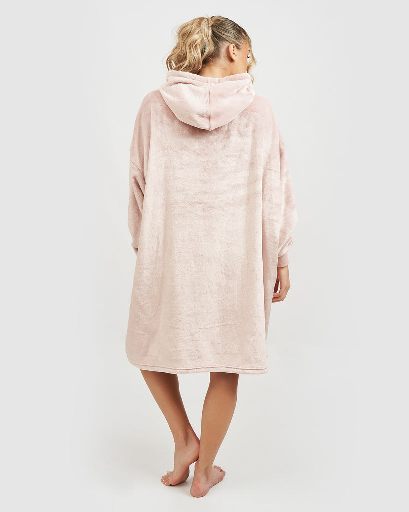 Miz Casa & Co Summer Edition Luxury Hooded Blanket Pink