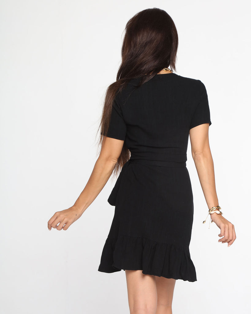 Miz Casa and Co Hope Dress Black (SIZE 8 ONLY)