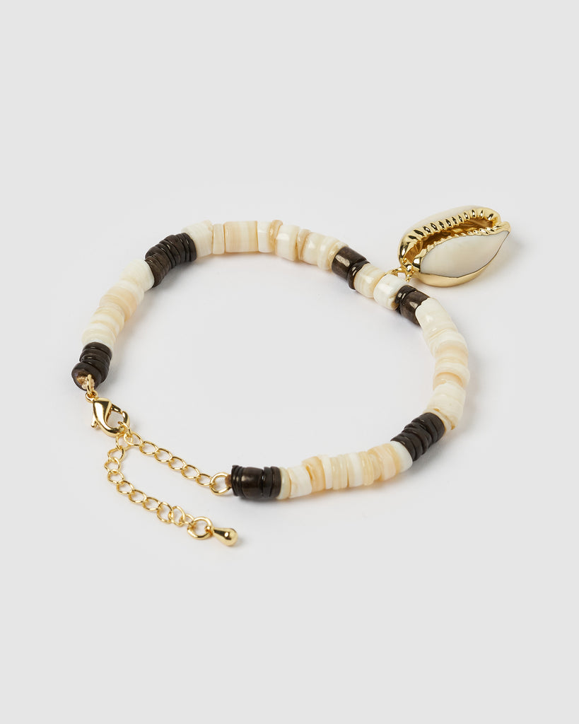 Miz Casa & Co Haika Shell Bracelet Gold