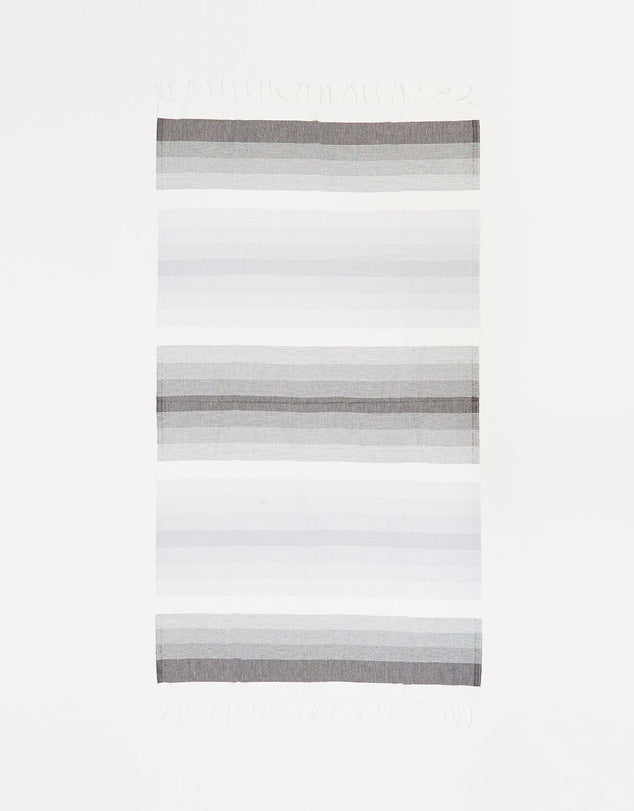 Miz Casa & Co Ibiza Turkish Towel Black & Grey