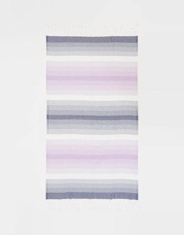 Miz Casa & Co Ibiza Turkish Towel Navy & Lilac