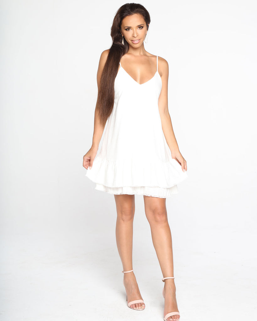 Miz Casa and Co India Dress White