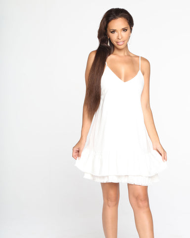 Miz Casa and Co Hazel Dress White