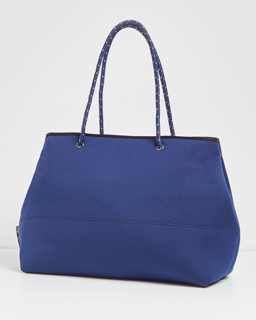 Miz Casa & Co Ivy Neoprene Tote Bag Navy