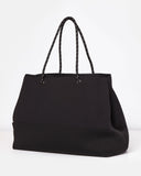 Miz Casa & Co Ivy Neoprene Tote Bag Black