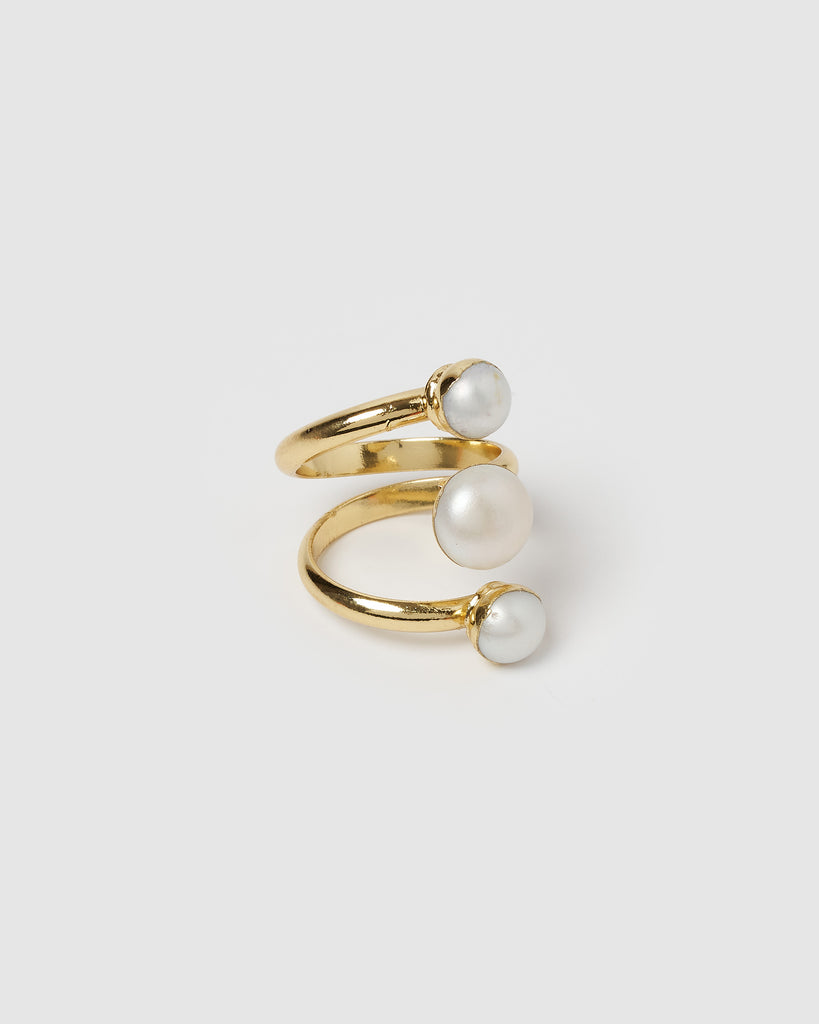 Miz Casa & Co Origins Ring Gold Pearl