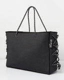 Miz Casa & Co Harper Neoprene Tote Bag Dark Grey Denim