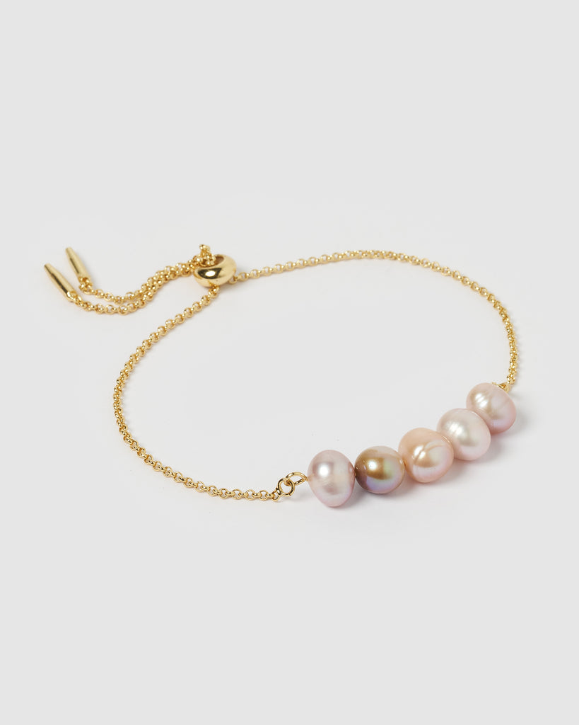 Miz Casa & Co Candice Bracelet Gold Purple
