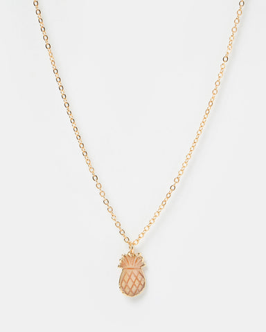 Miz Casa & Co Dusk Pearl Pendant Necklace Gold