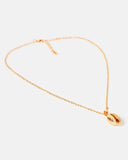 Miz Casa & Co Cowrie Kiss Necklace Gold