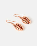Miz Casa & Co Cowrie Kiss Earrings Rose Gold
