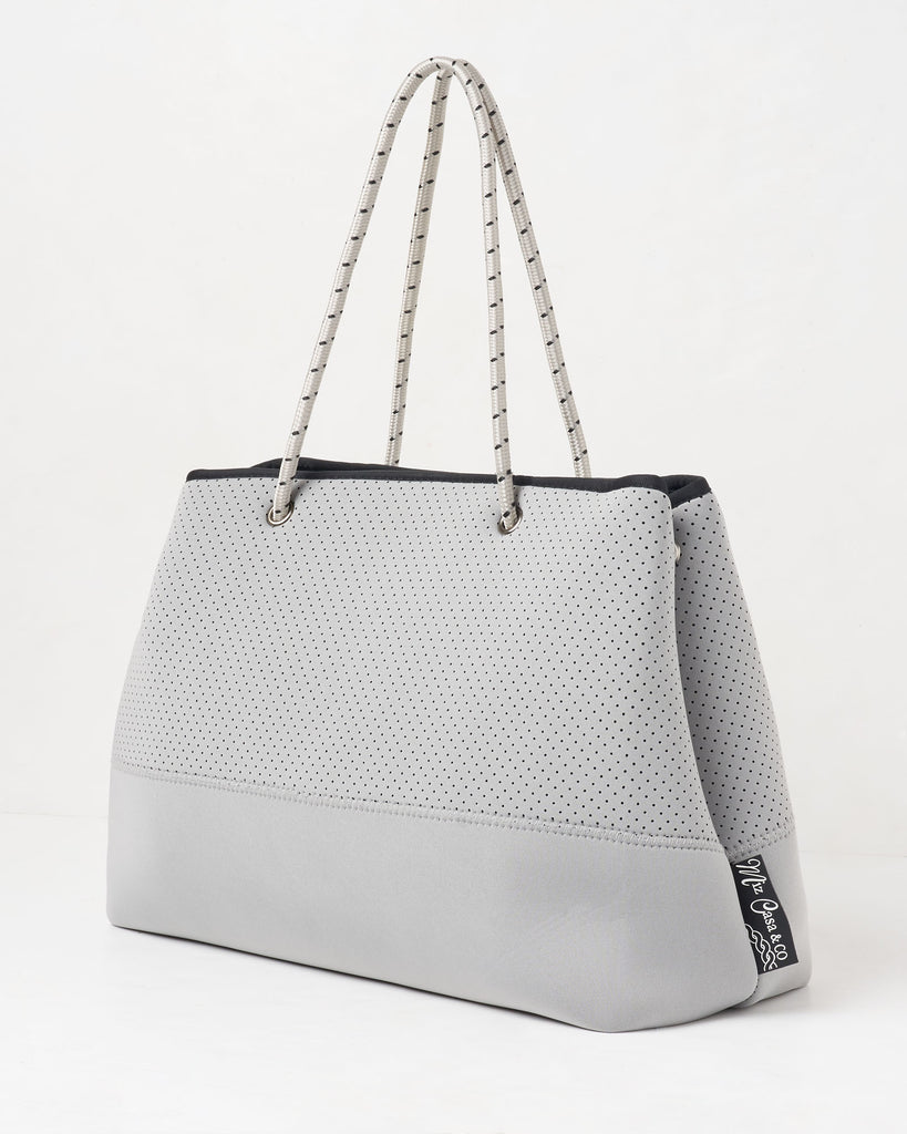 Miz Casa & Co Ivy Neoprene Tote Bag Grey