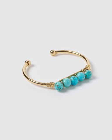 Miz Casa & Co Nadia Drop Earrings Freshwater Pearl Turquoise