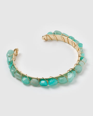 Miz Casa & Co Juliana Cuff Bracelet Gold Turquoise