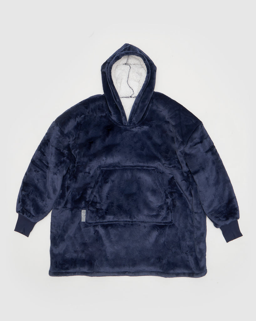 Miz Casa & Co Luxury Hooded KIDS Blanket Navy