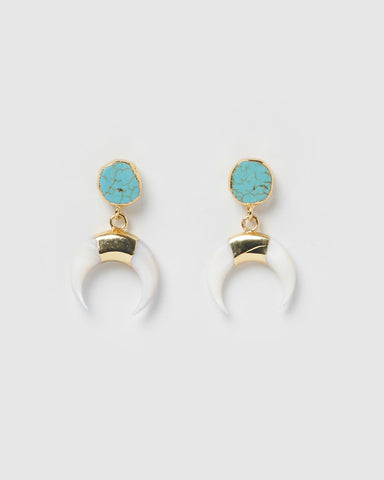 Miz Casa & Co Tidal Pool Earrings Turquoise