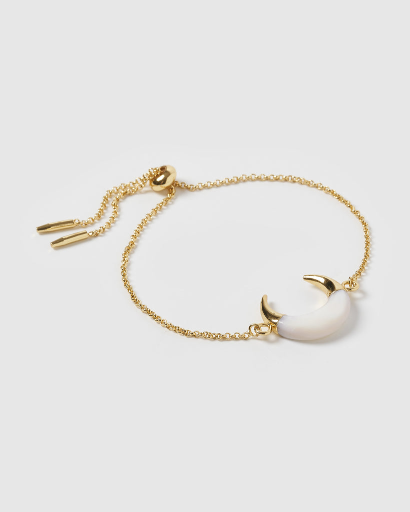Miz Casa & Co Lucky Charm Bracelet Gold White