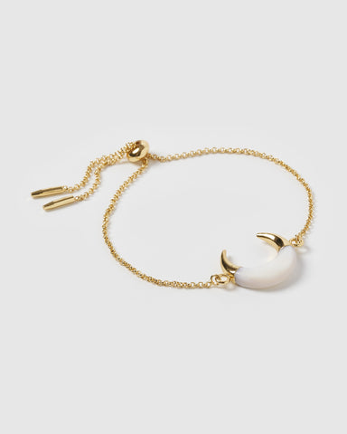 Miz Casa & Co Layla Eye Bracelet Gold Pearl