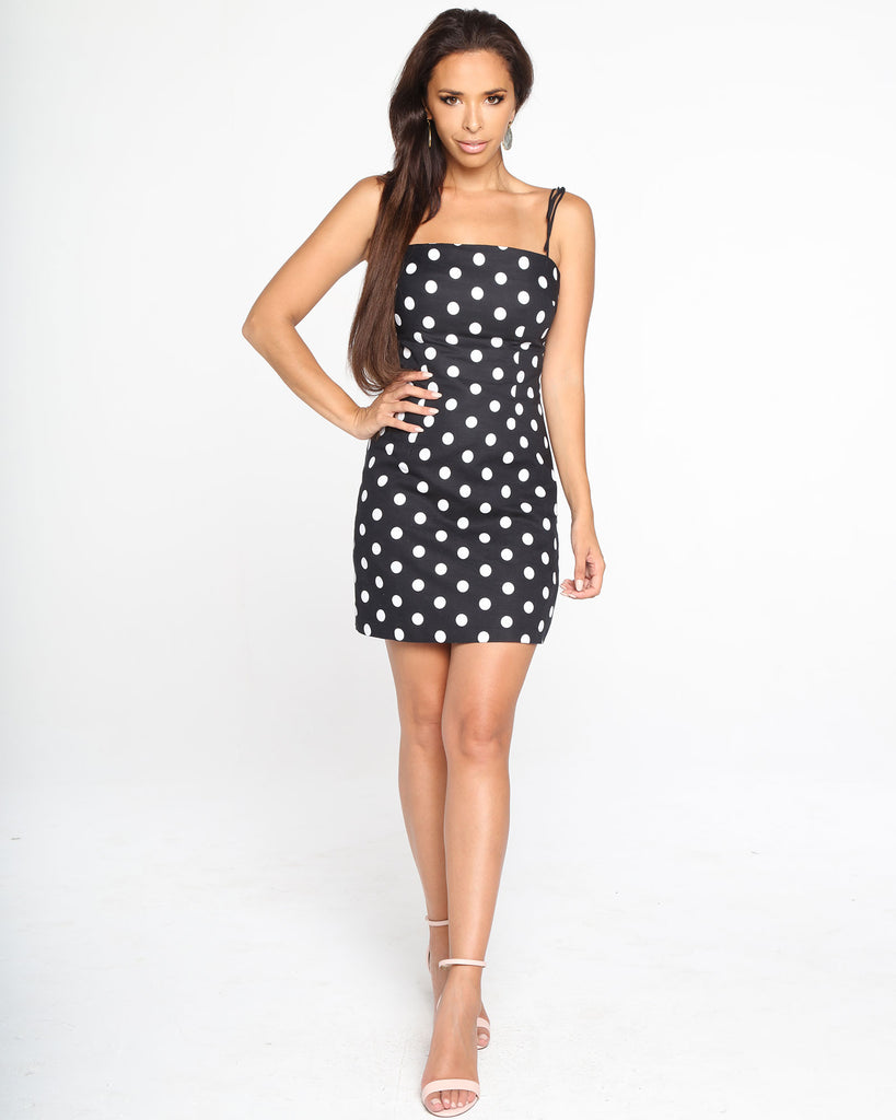 Miz Casa and Co Merrivale Dress Black Dot (SIZE 6 ONLY)