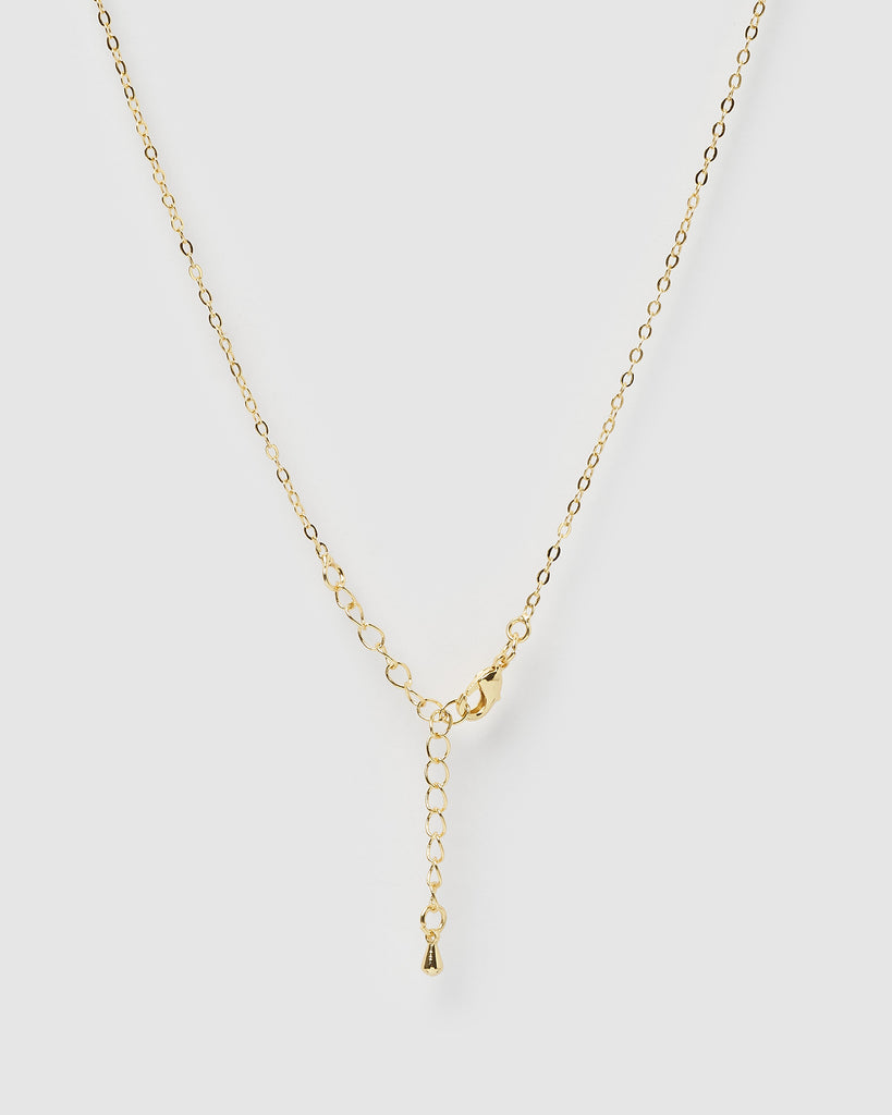 Miz Casa & Co Isla Pendant Necklace Jade Gold