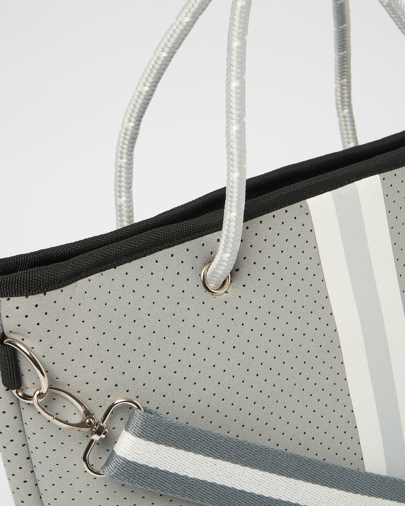 Miz Casa & Co Beverly Neoprene Mini Tote Bag Grey