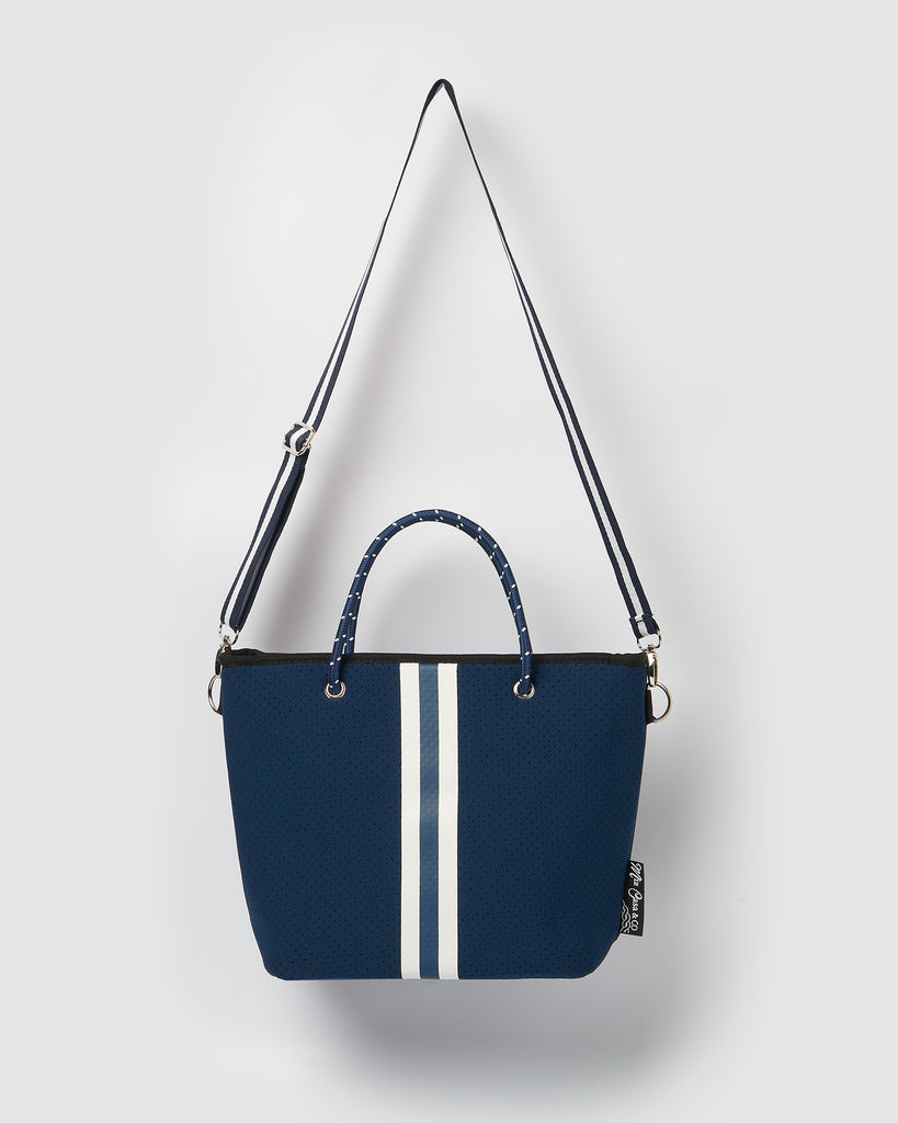 Miz Casa & Co Beverly Neoprene Mini Tote Bag Navy