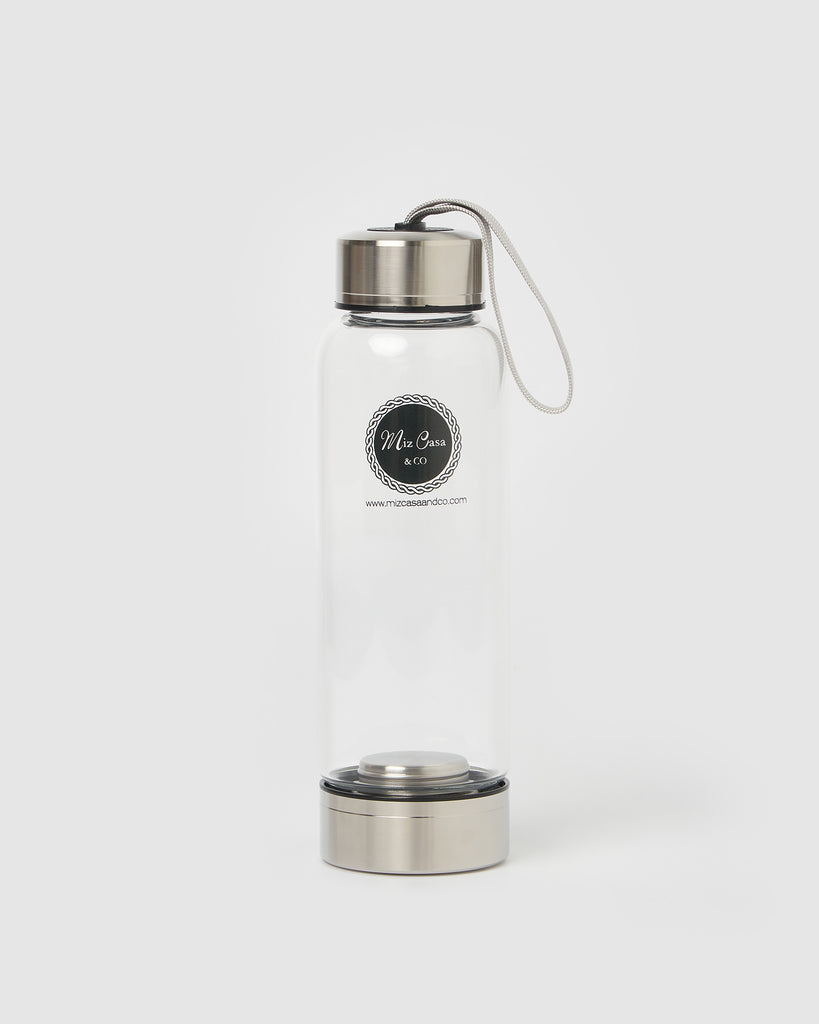 Miz Casa & Co Crystal Drink Bottle Clear Quartz