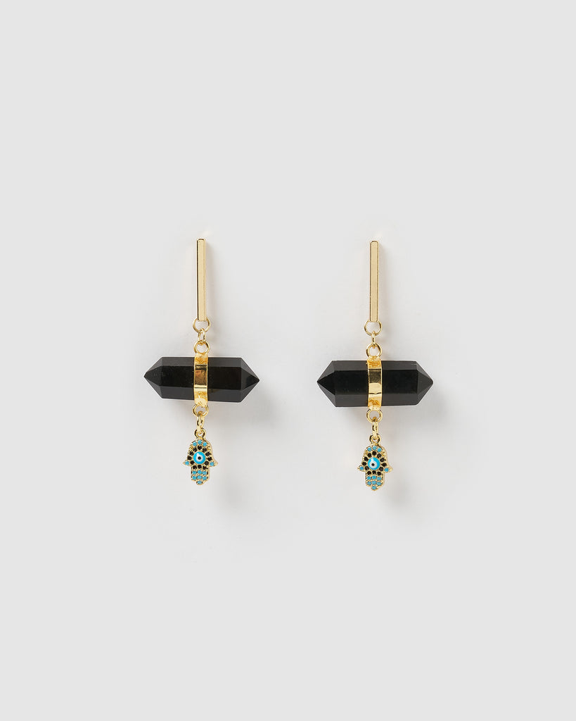 Miz Casa & Co Rosa Earrings Gold Black