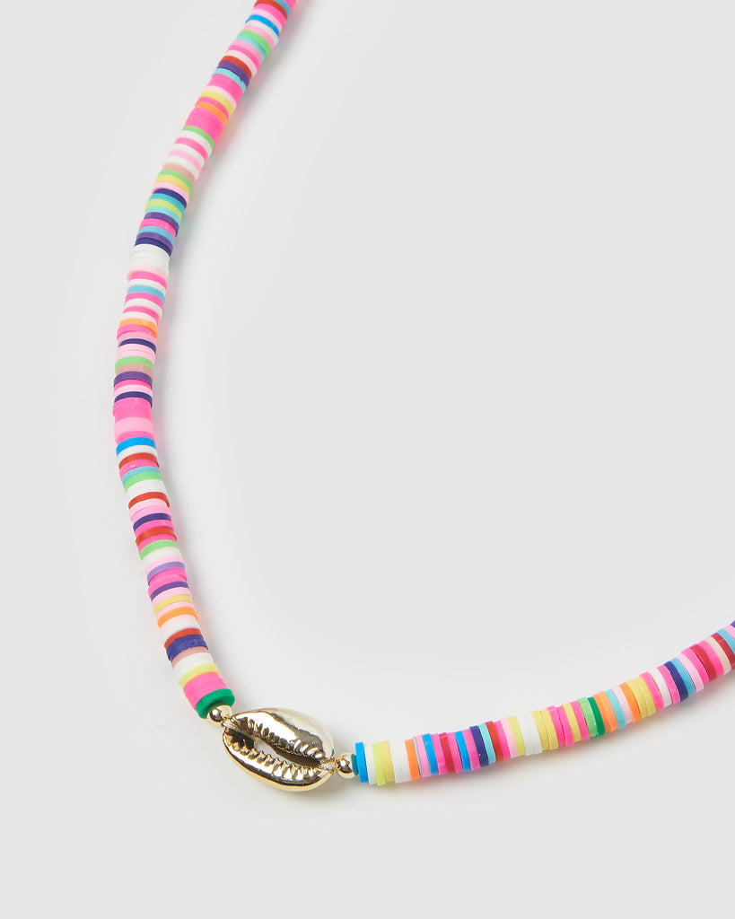 Miz Casa & Co Moreton Island Necklace Gold Multi
