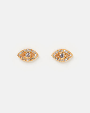 Miz Casa & Co Sunlit Stud Earrings Pink Gold