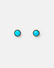 Miz Casa & Co Oceanic Stud Earrings Gold Turquoise