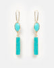 Miz Casa & Co Papeete Earrings Gold Turquoise