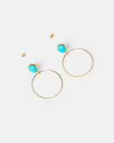 Miz Casa & Co Planets Earrings Gold Turquoise