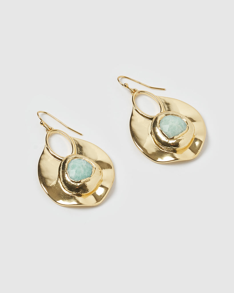 Miz Casa & Co Rhapsody Earrings Jade Gold