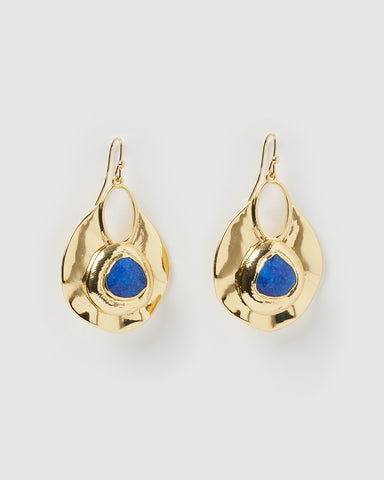 Miz Casa & Co Emery Drop Earrings Blue Freshwater Pearl