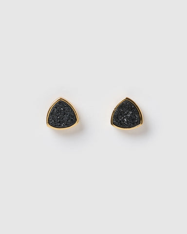 Miz Casa & Co Night Moon Eye Stud Earrings Silver Blue