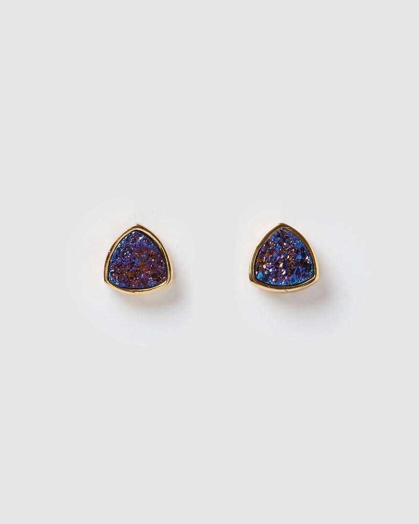 Miz Casa & Co Riley Stud Earrings Gold Purple Blue